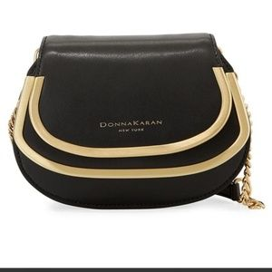 Donna Karan - Black Sol Calf Leather Clutch Bag